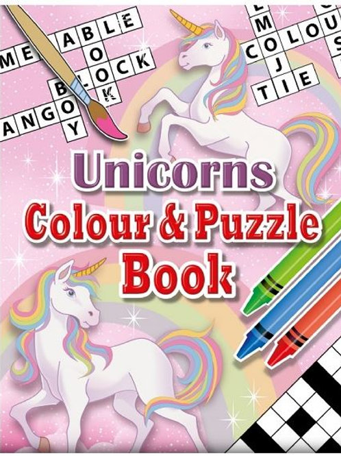 Unicorn Pocket Colour and Puzzle Book
