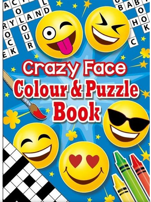 Toy Moji Colour and Puzzle Book 16 page