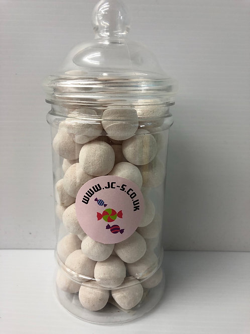 Traditional plastic sweet jar filled with the classic Toffee Bon bons