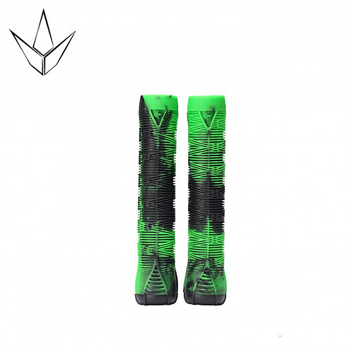 Blunt V2 Grips - Black and Green