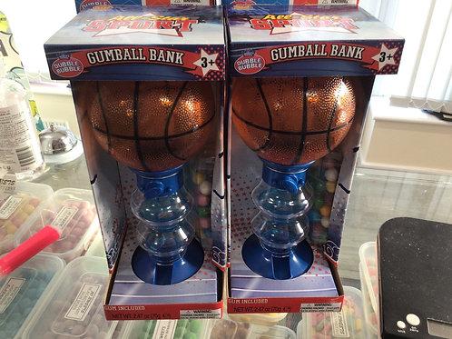 Basket ball gum ball dispenser