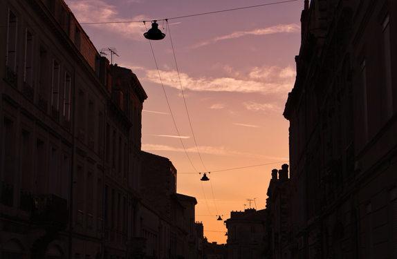 Streets Lights Sunrise