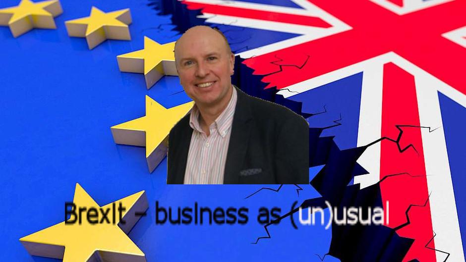"""April :  """"Brexit – business as (un)usual"""" door Hans De Backer"""