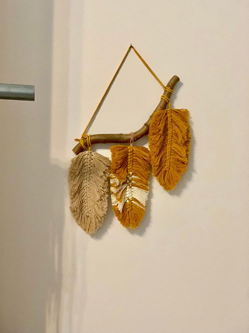 Large Feather Macrame Wall Decor