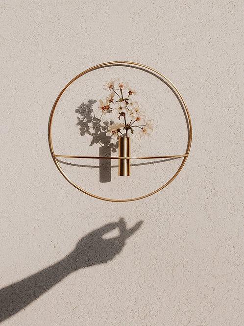 Wall Hang Brass Hoop Planter