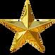 Golden Christmas Star isolated on white