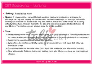 OET Speaking role play nurses