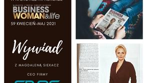 Interview with Magda Siekacz in Businesswoman & Life