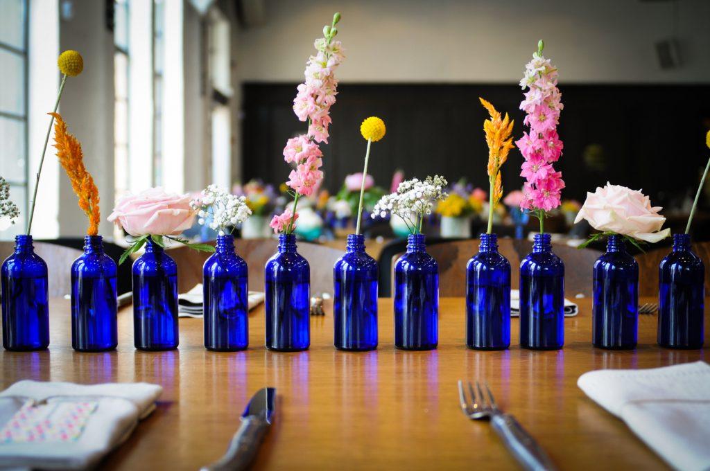 בקבוק מיני כחול
