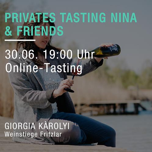 Wein Gini meets Nina & Friends. Vier Weine - Drei Länder