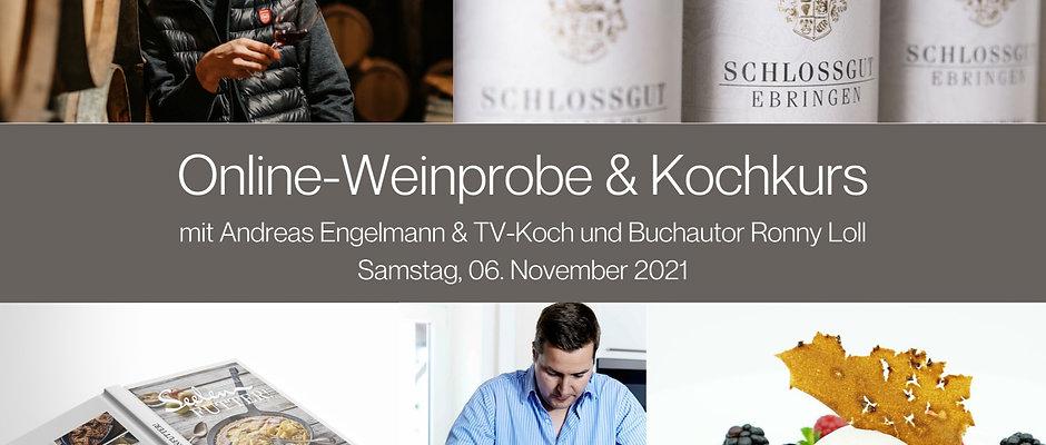 Online Kochkurs und Wein-Tasting inkl. Kochbuch