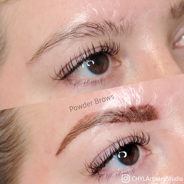 Scar coverage with Powder Brows