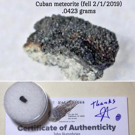 Vinales Meteorite NEW FALL .0423 grams