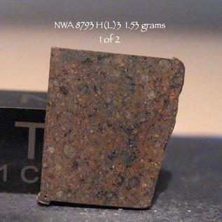 NWA 8793 H(L)3  1.53 grams