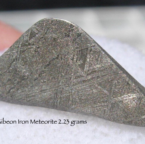 Gibeon Iron Meteorite 2.23 grams