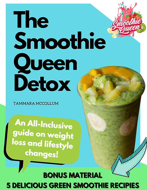The Smoothie Queen Detox - 5 Green Smoothie Recipes (E-Book)