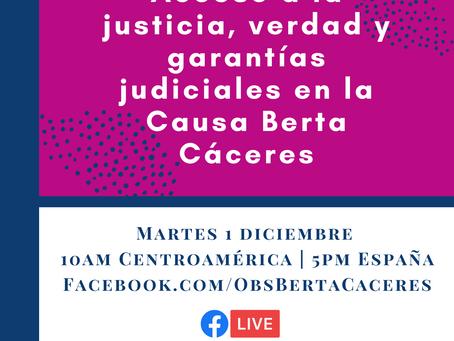 Acceso a la justicia, verdad y garantías judiciales en la Causa Berta Cáceres