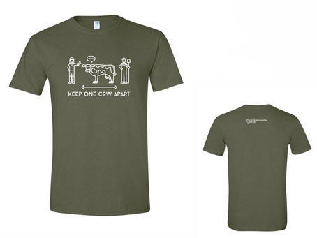 """Keep One Cow Apart""  T-Shirts Get Yours' Today!"