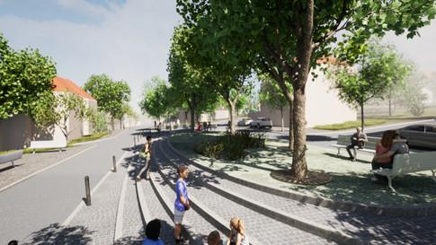 Nové plató v náměstí