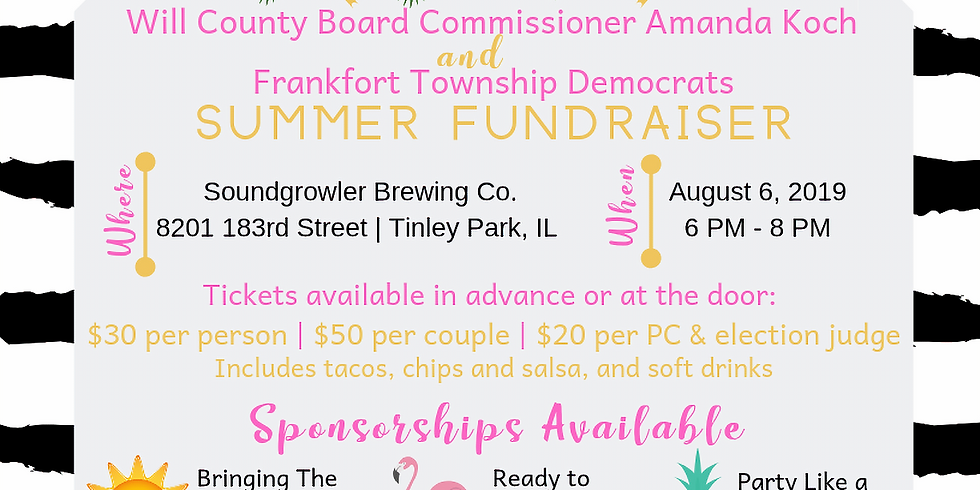 Summer Fundraiser - WCB Commissioner Amanda Koch & Frankfort Township Dems
