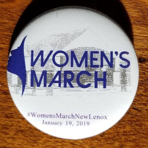 WMNL Button - Women's March (White)