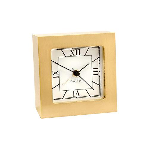 Brass Square Desk Alarm Clock