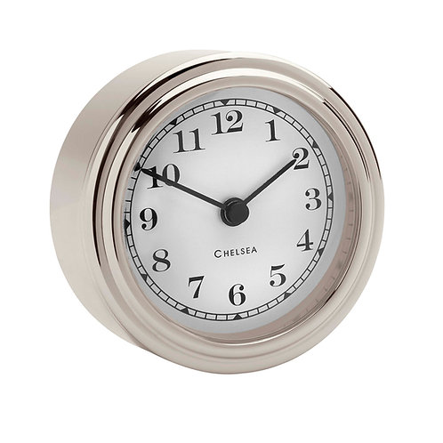 Nickel Harwich Desk Clock