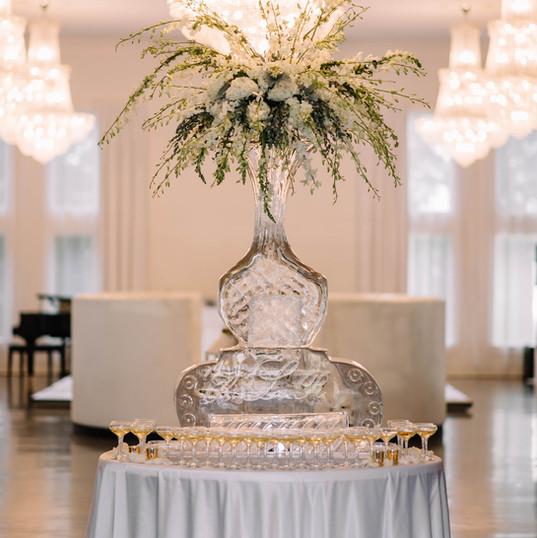Ice Sculpture Bentonville Wedding