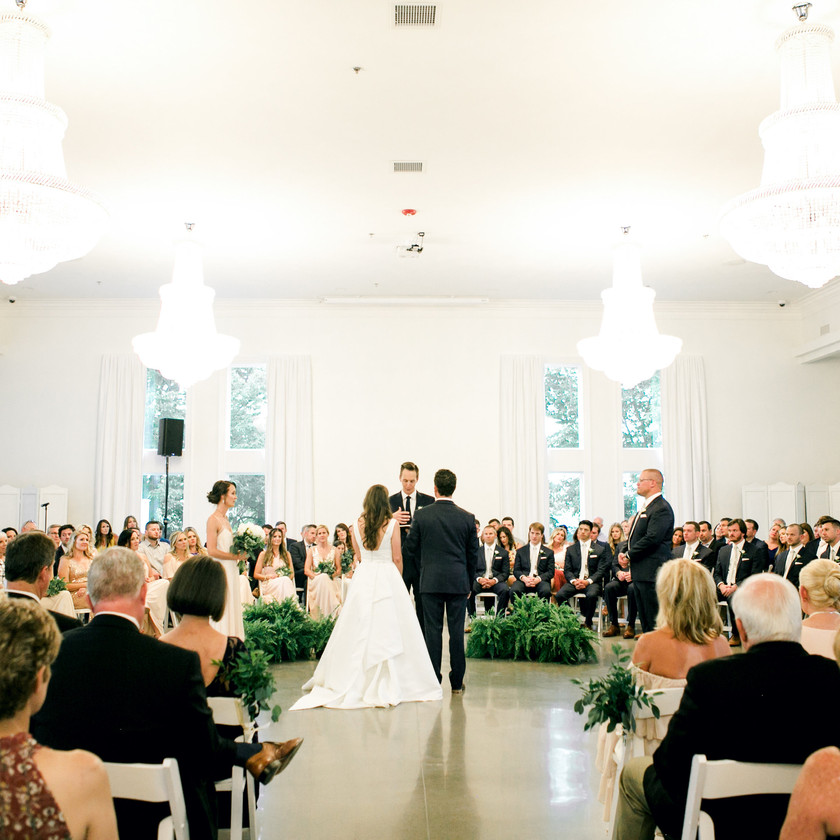 Ballroom at I Street Wedding Ideas Ceremony Round