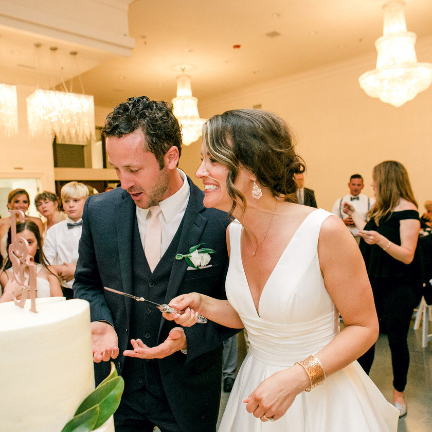 Cake Cutting NWA Wedding Ideas Bride Groom Ballroom I Street
