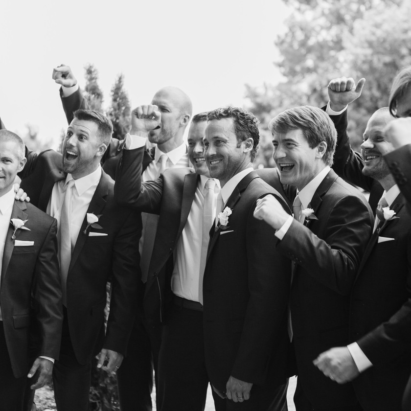 Groom Groomsmen Wedding Day Photography Northwest Arkansas