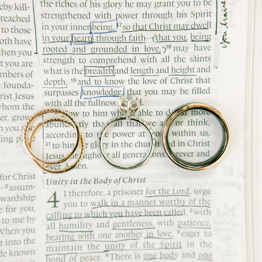 Wedding Rings Scripture Ideas Wedding Day Photography