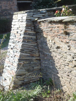 Dry Stone buttress to retain the 18th C wall.jpg