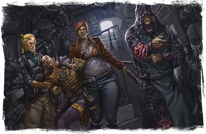 Player (second from left) shown Anarchy for first time