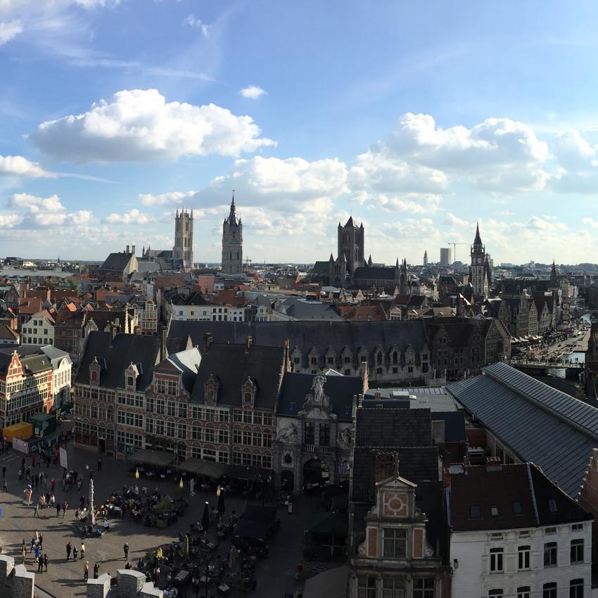 Gent - overview over byen
