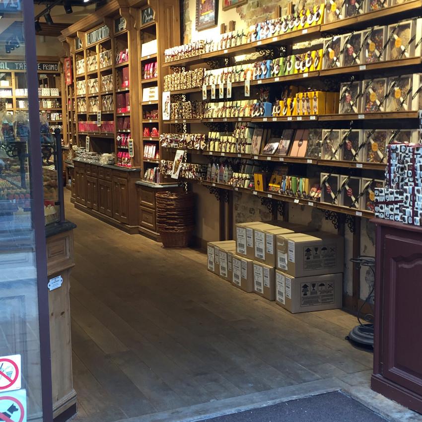 Chokoladeforretning i Brügge