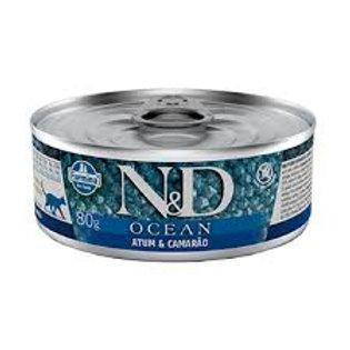 Alimento Úmido Gatos ND Ocean sabor Atum 80gr
