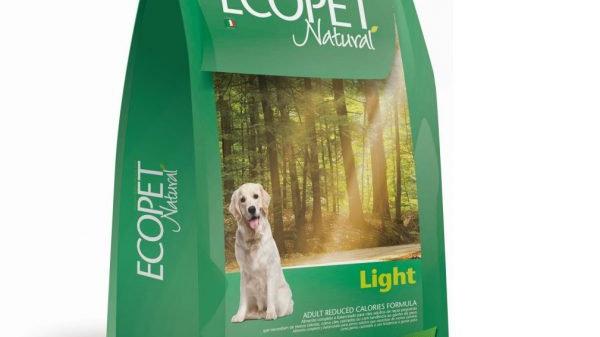 Ração Cães Adultos de Raças Médias e Grandes Light 15 kg - Ecopet Natural