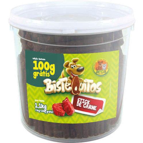 Bistequitos Bifinhos de Carne Balde 1kg - Petitos