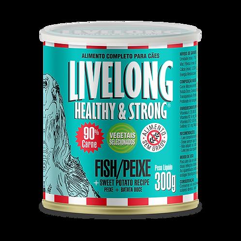 Livelong Alimento Úmido Cães sabor Peixes 300gr