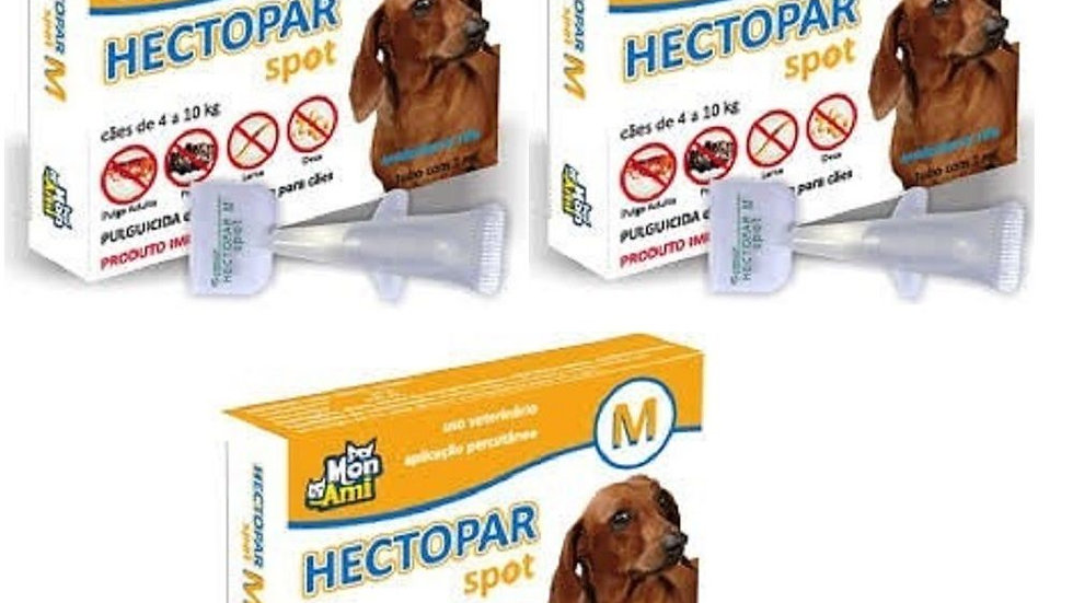 Combo 3 Antipulgas Hectopar tam. M para Cães 4kg a 10kg