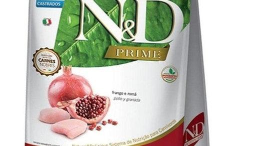 Ração ND Prime Gatos Adultos Castrados sabor Frango e Romã 400gr - ND