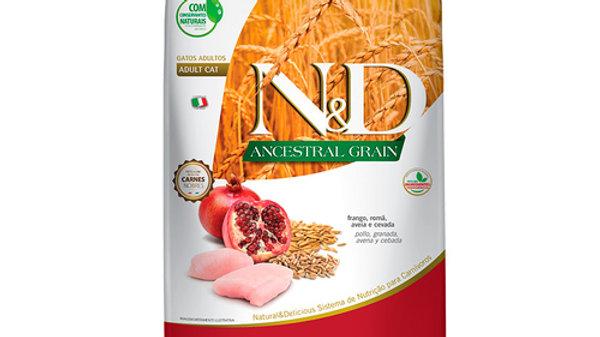 Ração ND Ancestral Gatos Adultos sabor Frango 7,5kg - ND
