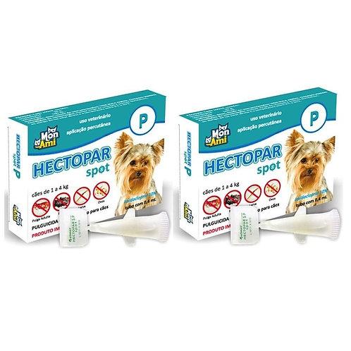 Combo 2 Antipulgas Hectopar P cães de 1kg a 4kg