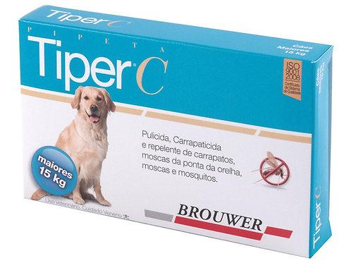 Antipulgas e Carrapatos para Cães até 15kg Tiper C 4,0ml - Brouwer