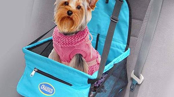 Cadeira de Transporte Pet para Carro cor Azul - Chalesco