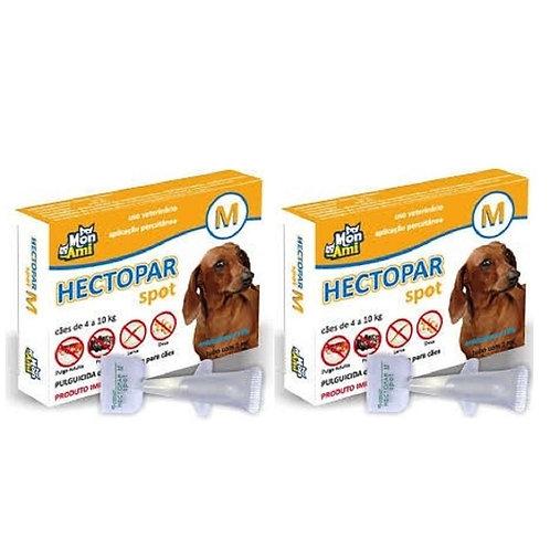 Combo 2 Antipulgas Hectopar tam. M para Cães 4kg a 10kg