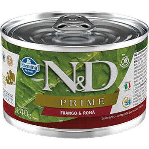 Alimento Úmido Cães Puppy ND Prime sabor Frango 140gr