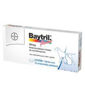 Antibiótico para Cães e Gatos Baytril Flavour 50mg - Bayer