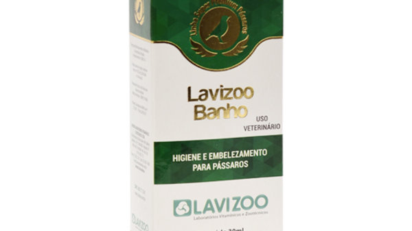 Lavizoo Banho para Pássaros 30ml - Higiene para Pássaros